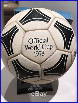 6354a41bcef025 1978 Adidas Official World Cup Match Ball+Original Box Durlast Tango RARE  Soccer