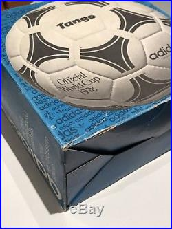 1978 Adidas Official World Cup Match Ball+Original Box Durlast Tango RARE Soccer