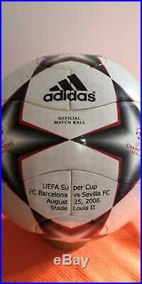 ADIDAS OFFICIAL UEFA SUPER CUP BALL 2006 FC BARCELONA vs SEVILLA FC IMPRINTS