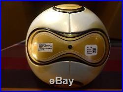 ADIDAS Teamgeist Gold Berlin WM 2006 World Cup Matchball Size 5 neu OMB Ball Box