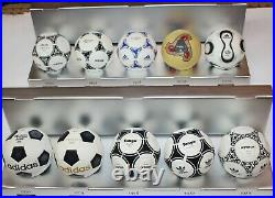 ADIDAS WORLD CUP HISTORICAL MINI MATCH BALL Set DESIGNED BOXED 10 Ball 1970-2006