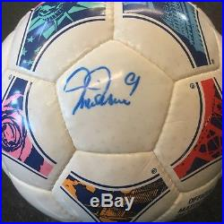 Adidas 1999 Icon Official Ball Of FIFA Womens World Cup Hand Signed By Mia Hamm