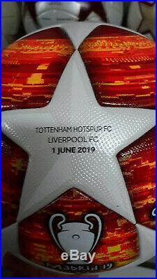 Adidas Ball Champions League Madrid 2019 Final Imprints Tottenham Liverpool