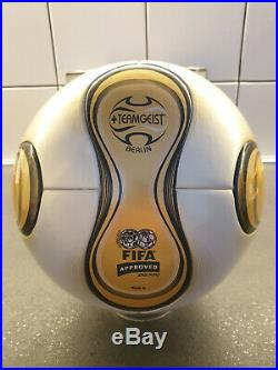 Adidas Ball Teamgeist Final Gold Imprints Italy France World Cup Germany 2006