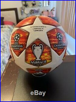 Adidas Final Madrid 2019 UEFA Champions League Match Ball With Imprints Rare