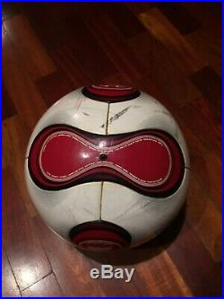 Adidas Soccer Match Ball Used Teamgeist Red Football Omb Fifa World Cup Footgolf