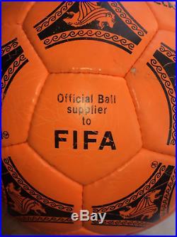 Adidas Tango Etrusco Classico 1990 World cup ball Orange Made in France