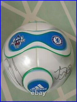 Adidas Teamgeist 2006 2007 MLS Official Soccer Match Ball Signed by Chelsea Team