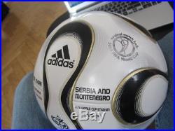 Adidas Teamgeist Matchball OMB Ball WM WC 2006 Ivory Serbia Coca Cola box