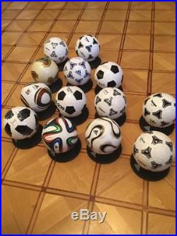 Collection World Cup Adidas 1970-2018 Mini Soccer Ball Size 0 New