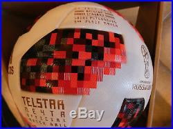 England-Belgien 3. Platz Adidas Mechta Meyta Telstar WM 2018 Matchball Inprint