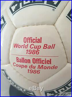 Official Adidas Match Ball World Cup Azteca Mexico 1986 Made France Red Letters