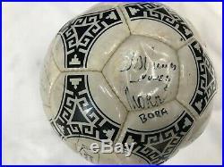 Pallone Calcio Ufficiale Mondiali 1986 Adidas Argentina Autografato Maradona ecc