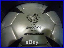 Uefa Euro 2004 Portugal Adidas Official Roteiro Match Ball In Box
