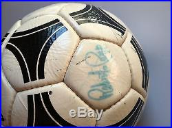 Vintage 1978 Adidas Tango River Plate Made in France signed by the Italian Team